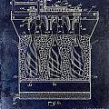 Champagne Bottle Freezer Patent 1902 Blue by Jon Neidert