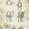 Champagne  Cork Extractor and Wire Cutter Patent Drawing by Jon Neidert