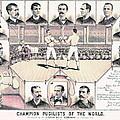 Champion Pugilists 1885 by Padre Art