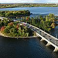 Champlain Bridge Aerial Panorama by Rob Huntley