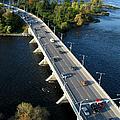 Champlain Bridge. Aerial View. by Rob Huntley