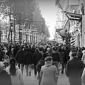 Champs Elysees Black N White by Riad Belhimer