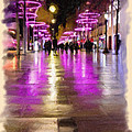 Champs Elysees In Pink by Angela Stanton