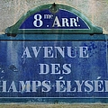 Champs-elysees Sign by Suzanne Powers