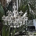 Chandelier In The Garden by Patricia Greer