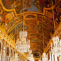 Chandeliers And Ceiling Of Versailles by Anthony Doudt