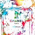 Chanel Number Five Paint Splatter by Dan Sproul