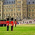 Changing Of The Guard In Front Of Parliament Building In Ottawa- by Ruth Hager
