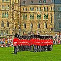 Changing Of The Guard In Front Of The Parliament Building In Ottawa-on by Ruth Hager