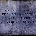 Chaos - Carl Jung by Randi Kuhne
