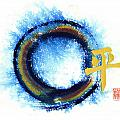 Chaos Without - Peace Within - Zen Enso by Ellen Miffitt