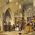 Chapel At Haddon Hall, Derbyshire by Joseph Nash