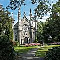 Chapel At Mt Auburn Cemetery by Michael Saunders
