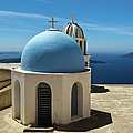 Chapel On Santorini by Gary Eason