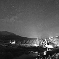 Chapel On The Rock Stary Night Portrait Bw by James BO  Insogna