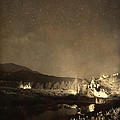 Chapel On The Rock Stary Night Portrait Monotone by James BO  Insogna