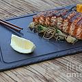Char Grilled Salmon by Oren Shalev