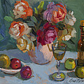 Chardonnay And Roses by Diane McClary