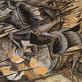 Charge Lancers by Umberto Boccioni