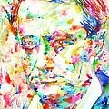 Charles Baudelaire Watercolor Portrait.1 by Fabrizio Cassetta