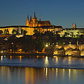 Charles Bridge And Prague Castle At Dusk  by Jaroslav Frank