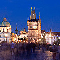 Charles Bridge At Night / Prague by Barry O Carroll
