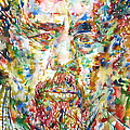 Charles Mingus Watercolor Portrait by Fabrizio Cassetta
