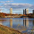 Charles River At Harvard In Fall by Jannis Werner