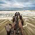 Charleston Sc Folly Beach Coastal Atlantic Ocean by Dave Allen