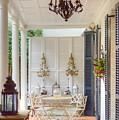 Charleston Side Patio by Linda Covino