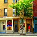Charlevoix And Notre Dame Little Antique Shops St Henri Art Montreal Street Scene Carole Spandau by Carole Spandau