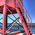 Charlevoix Lighthouse Steps by Twenty Two North Photography