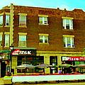 Charlevoix Pizza Et Chic Regal Rue Centre Scenes De Rue Pointe St Charles City Scenes Carole Spandau by Carole Spandau