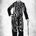 Charlie Chaplin Typography Poster by Inspirowl Design