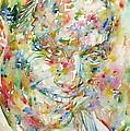 Charlie Parker Watercolor Portrait by Fabrizio Cassetta