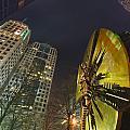 Charlotte Downtown At Night by Alex Grichenko