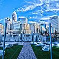 Charlotte Nc Usa - Charlotte Skyline  by Alex Grichenko