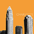 Charlotte Skyline 2 - Orange by DB Artist