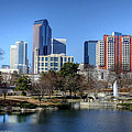 Charlotte Skyline From Marshall Park by Maurice Smith
