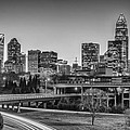 Charlotte Sunset Black And White by Brian Young