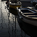 Charming Old Wooden Boats In The Harbor by Georgia Mizuleva