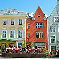 Charming Town Square In Old Town Tallinn-estonia by Ruth Hager