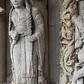 Chartres Cathedral Female Pilgrim by Deborah Smolinske