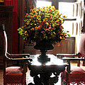 Chateau De Chenonceau Flowers And Chairs by Randi Kuhne