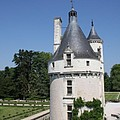 Chateau Chenonceau Tower And Moat by Christiane Schulze Art And Photography