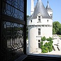 Chateau Chenonceau Tower Through Open Window  by Christiane Schulze Art And Photography