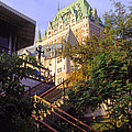 Chateau Frontenac In Quebec by Bob Phillips