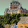 Chateau In Old Quebec by Linda  Parker