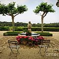 Chateau Malherbe Fountain by Lainie Wrightson