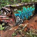 Cheakamus River Train Derailment by Adam Jewell